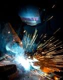 Welder in action Stock Images