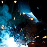 Welder in action Royalty Free Stock Image