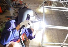 Welder activity Royalty Free Stock Photography