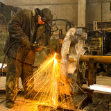 Welder At Work. Stock Photos