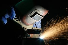 Free Welder At Work Royalty Free Stock Photography - 5397487