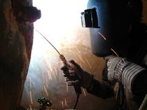 Welder At Work Royalty Free Stock Photography