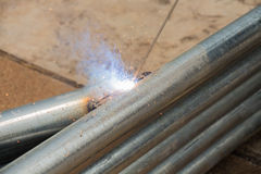 Welder be welding Stock Images