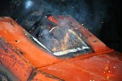 Welder behind work Royalty Free Stock Photos