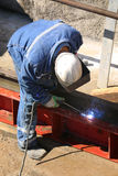 Welder on construction site Royalty Free Stock Photography
