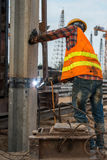 Welder at construction site. Welder working at construction site Royalty Free Stock Image