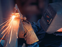 Welder with Cutting Torch Royalty Free Stock Images