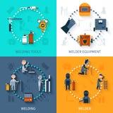 Welder Design Concept Set Royalty Free Stock Photo