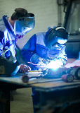 Welder education training Royalty Free Stock Photos