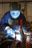 Welder in a factory Royalty Free Stock Photos