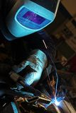 Welder in a factory Royalty Free Stock Image
