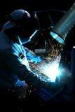 Welder in factory Stock Images