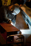 Welder  at factory Stock Photography