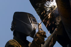 Welder flaring Stock Photography