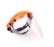Welder or grinders face shield. Royalty Free Stock Photo