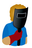 Welder Icon royalty free stock photography