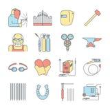 Welder icon Stock Photos