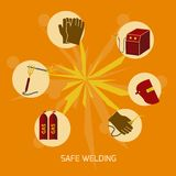 Welder icons flat Stock Images