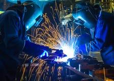Welder Industrial automotive part Stock Photography