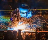 Welder Industrial automotive part Stock Image