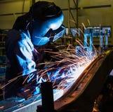 Welder Industrial Stock Photo