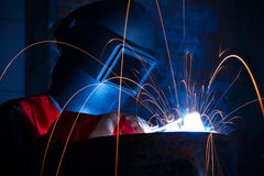 Welder at industry Royalty Free Stock Images