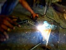 Welders are welded steel. stock photography