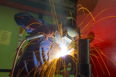 Welder on location Royalty Free Stock Photo