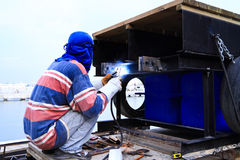 Welder man Stock Photo