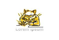 Welder mascot Stock Photography