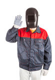 Welder in mask. Royalty Free Stock Images
