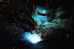 Welder Metal Welding Arkivfoto