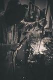 Welder. Paul on his workshop Royalty Free Stock Photo