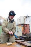 Welder preparing cutting torch Stock Photography