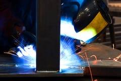 Arc welding of metals Stock Photography