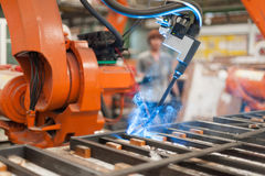 Welder robot Stock Photos