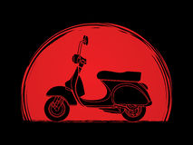 Scooter. Designed on sunset background graphic vector vector illustration