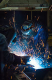 Welder skill up Stock Photo
