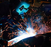 Welder skill up. The Welder skill up on Thailand Royalty Free Stock Photography