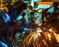 Welder skilled working Stock Photography
