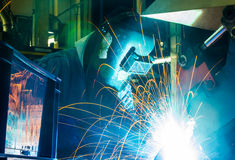 Welder skilled working Royalty Free Stock Image