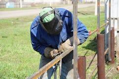 Welder soldering iron Stock Photo