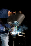 Welder and sparks Stock Image