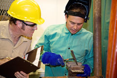 Welder and Supervisor Royalty Free Stock Photos