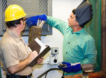Welder with Supervisor stock photography