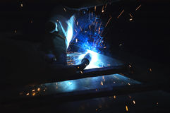 Welder using torch Royalty Free Stock Photo