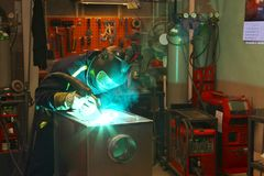 Welder. Royalty Free Stock Photography