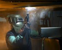 Welder welding Stock Photo