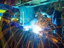 Welder welding Royalty Free Stock Photo