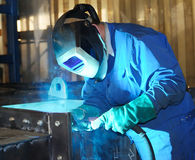 Welder at work. (Industrial photo stock images